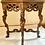 Thumbnail: Vintage Tiger Oak Figural Table