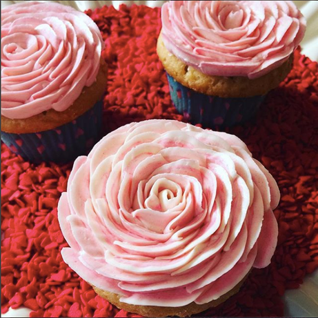 Half Dozen Vanilla Funfetti ROSE CUPCAKES $30