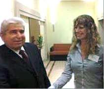 מיכל ברנע עם נשיא קפריסין