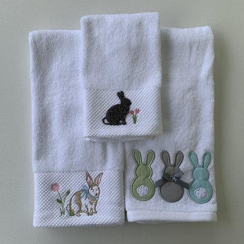 Rabbit dishtowels