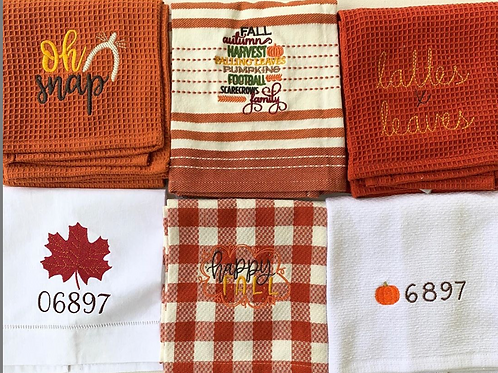 Fall themed dishtowels