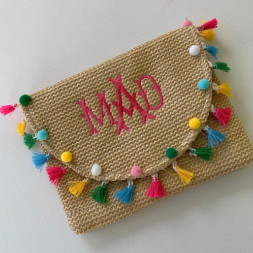 Colorful Tassle Clutch