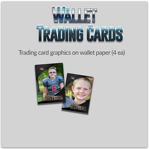 Wallet Trading Cards (4 ea)