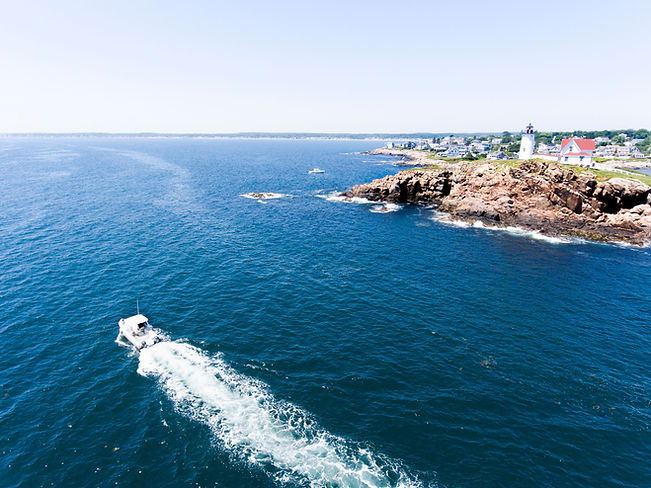 Cove Runner and Nubble Light from drone