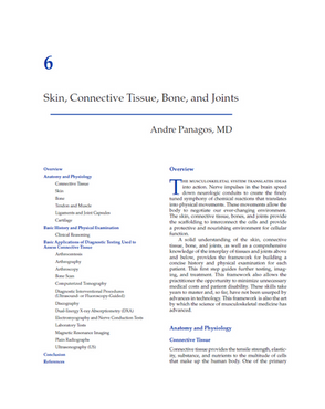 Panagos A. Skin, Connective Tissue, Bone, and Joints. Chapter In: Mitra, R. (Ed). Principles of Rehabilitation Medicine. New York, McGraw-Hill Education / Medical 2019.