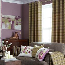 Fern erato Eyelet Curtain displayed.