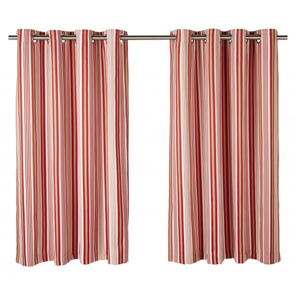 Beechwood chintz striped eyelet curtain.