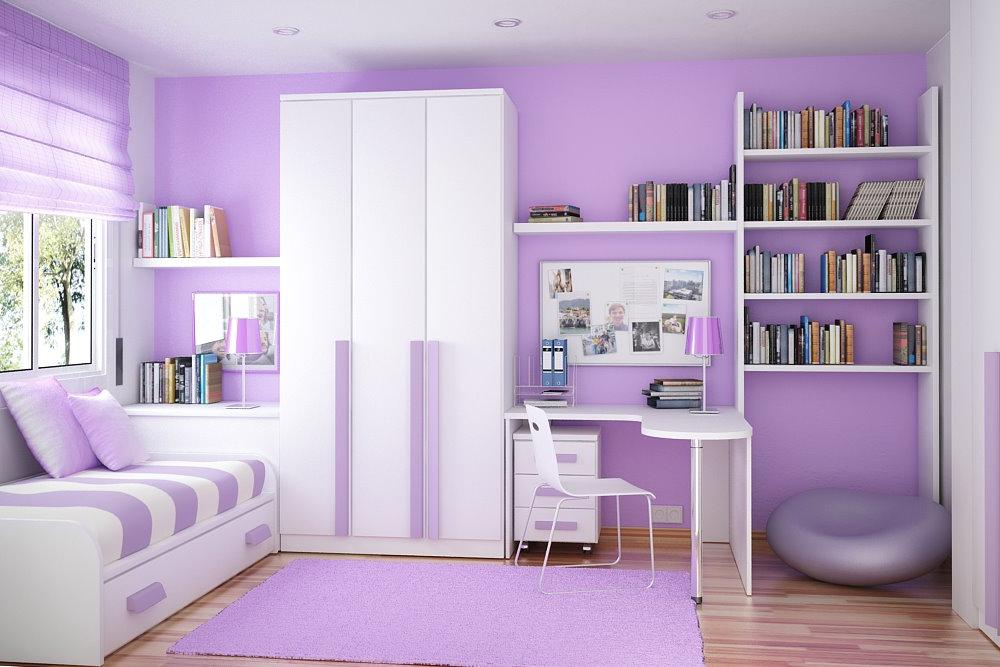 VD12 Purple Cool Bedroom