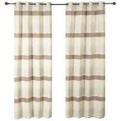 Natural Stria Eyelet Curtains.