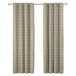 Charcoal Cerato Eyelet Curtains.
