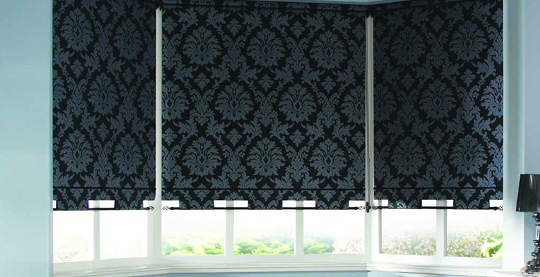 Patterned Roller Blind Blackout.