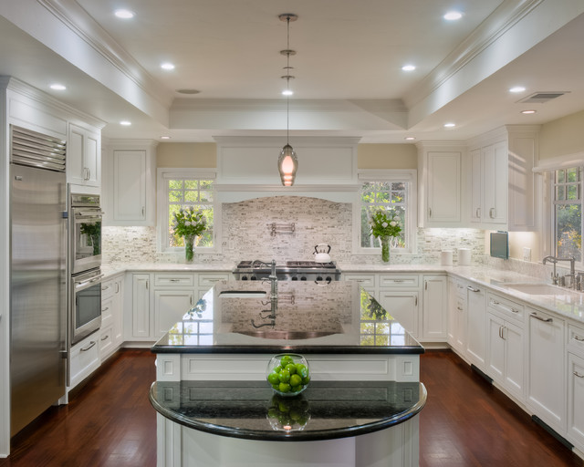 Traditional family kitchen.