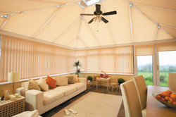 Pleated conservatory blind