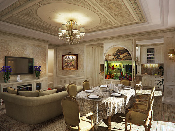 VD14Classic Contemporary Living Room