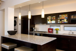 kitchen with decoratives lights