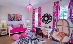 Colourful modern living room