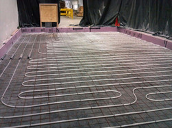 Radiant tubing installation for freezer frost protection system