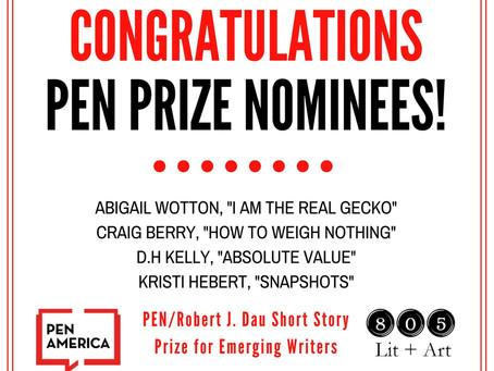 Congrats PEN Short Story Prize Nominees!