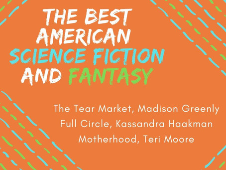 2019 Nominations for The Best American  Science Fiction and Fantasy