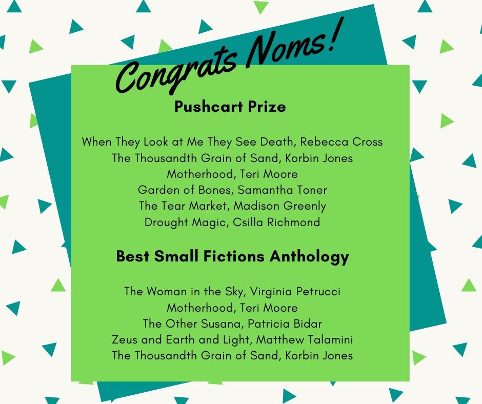 Graphic- Pushcart and Best Small Fictions Nominees