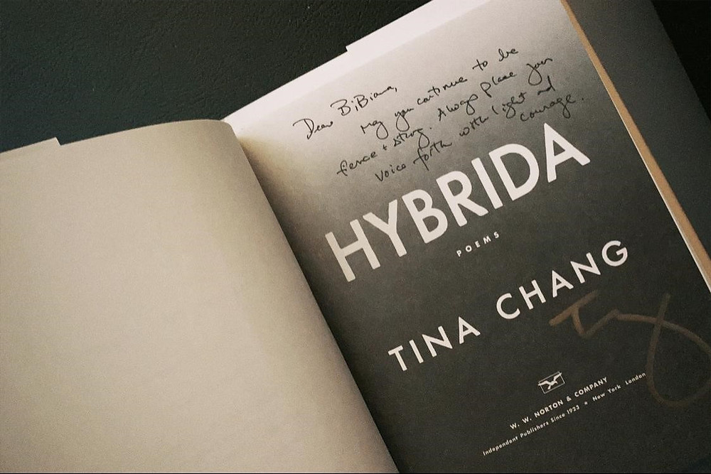 Photo of book Hybrida by Tina Chang