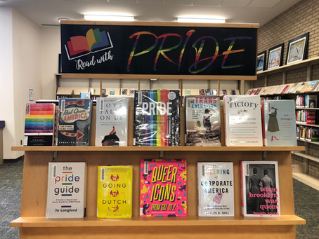 Pride Month Book Displays at the Library!