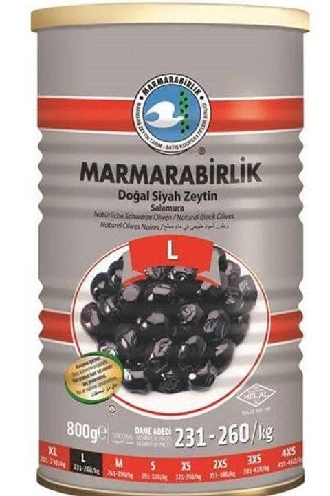 Marmarabirlik Large Hiper Naturel Black Olives 800g