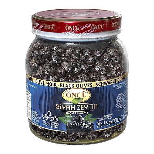 Oncu Natural Black Olives Medium 1000g