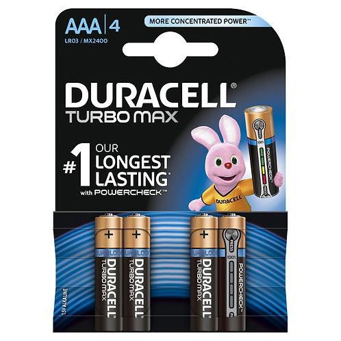 Duracell AAA4 Turbo Max Batteries