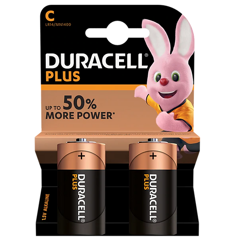 Duracell Plus C LR14 Batteries | 2 Pack
