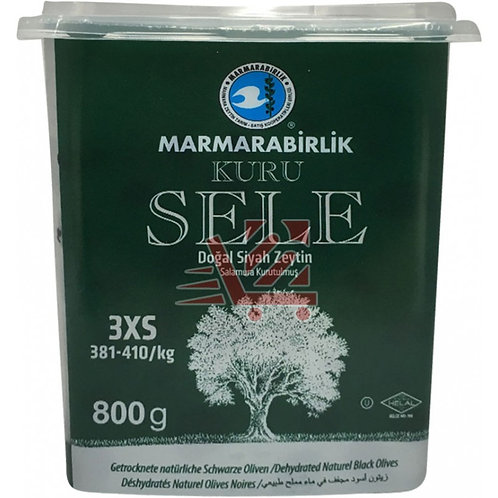 Marmarabirlik Dry Cured Black Olives (3XS) 800g