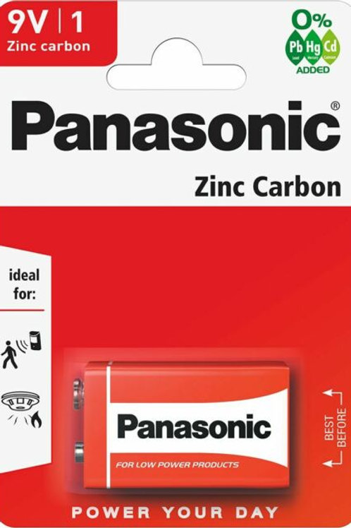 1 x 9V PANASONIC® Zinc Carbon Battery 9V