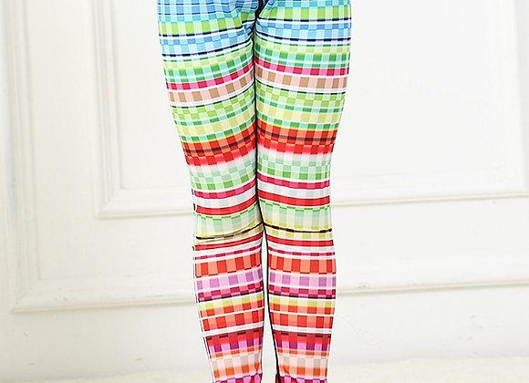 Girls Soft Leggings (Color Block)
