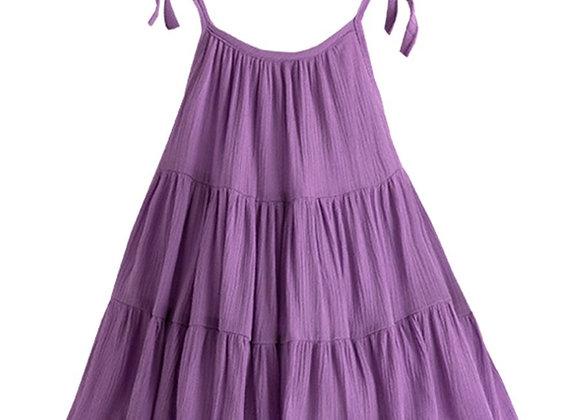 Ruffle Tiered Dress (purple)