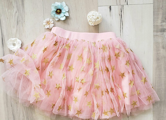 Star Tulle Skirt (pink)