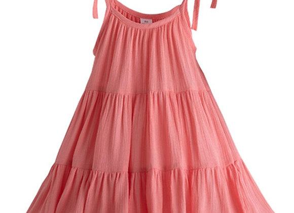 Ruffle Tiered Dress (coral)