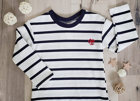 Hearts on Fire Striped L/S Tee
