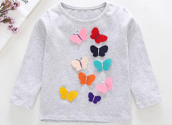 Social Butterflies L/S Tee (gray)