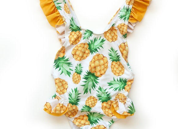 Pineapple Ruffle One-Piece Bathing Suit
