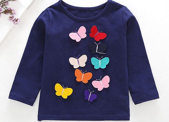 Social Butterflies L/S Tee (navy)