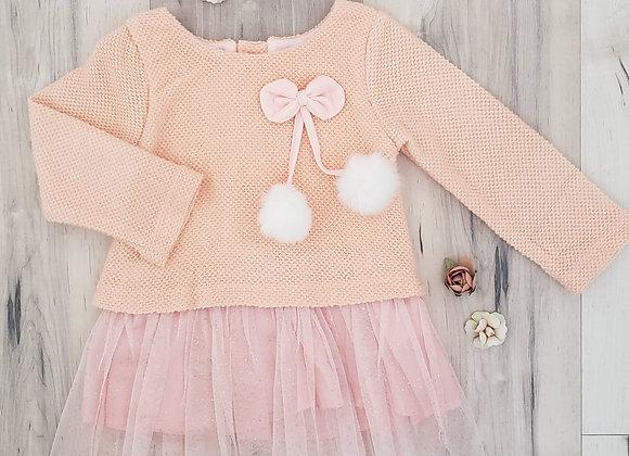 Very Cherry Dress w/Tulle Skirt