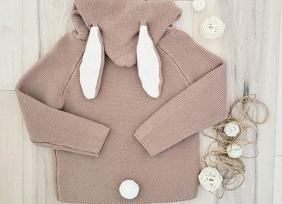 Bunny Ears Sweater (brown)