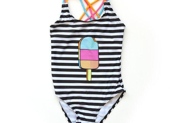 Rainbow Popsicle One-Piece Bathing Suit