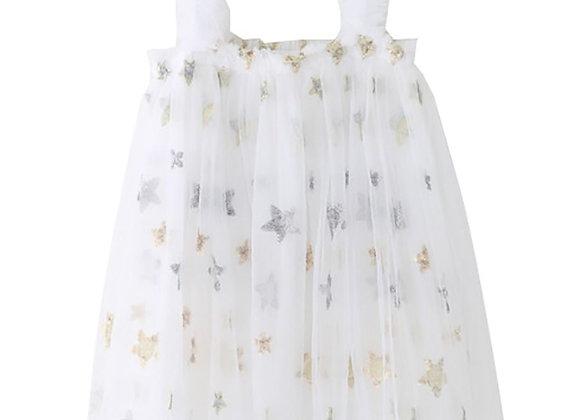 Starlight Flounce Dress (white)