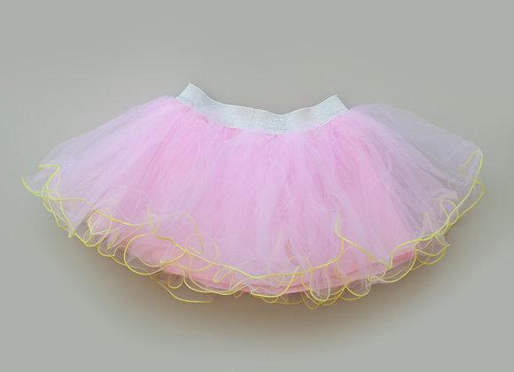 Contrast Hem Tutu Skirt (pink)