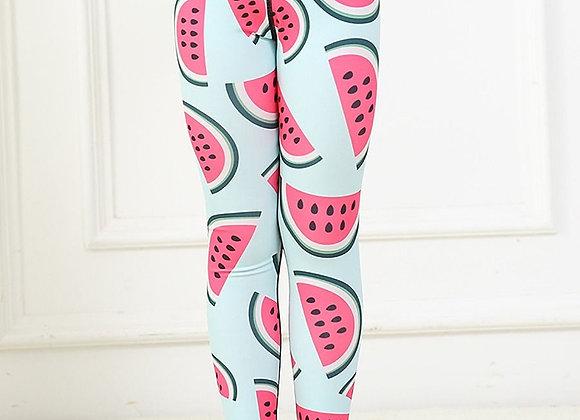 Girls Soft Leggings (Watermelon)