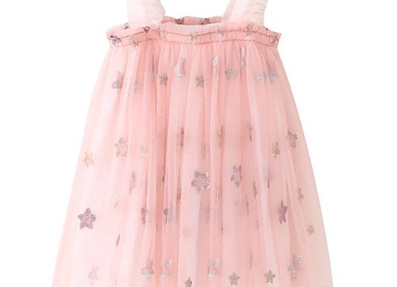 Starlight Flounce Dress (pink)