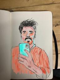 ProCreate digital drawing on top of sketchbook.jpeg