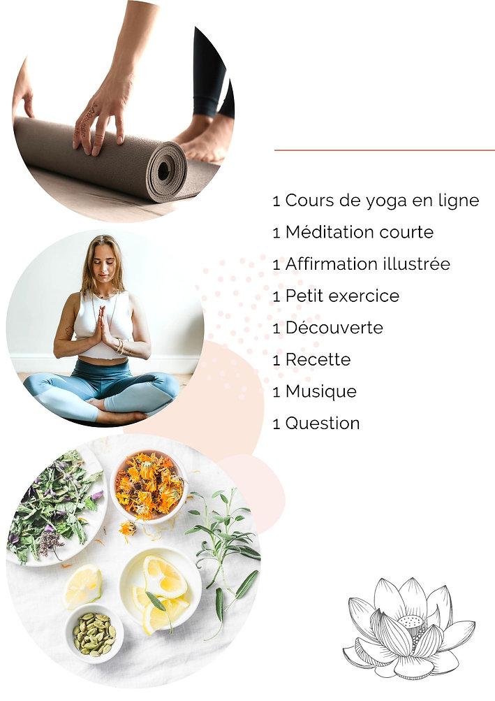yoga en ligne, capsule qui nourrit