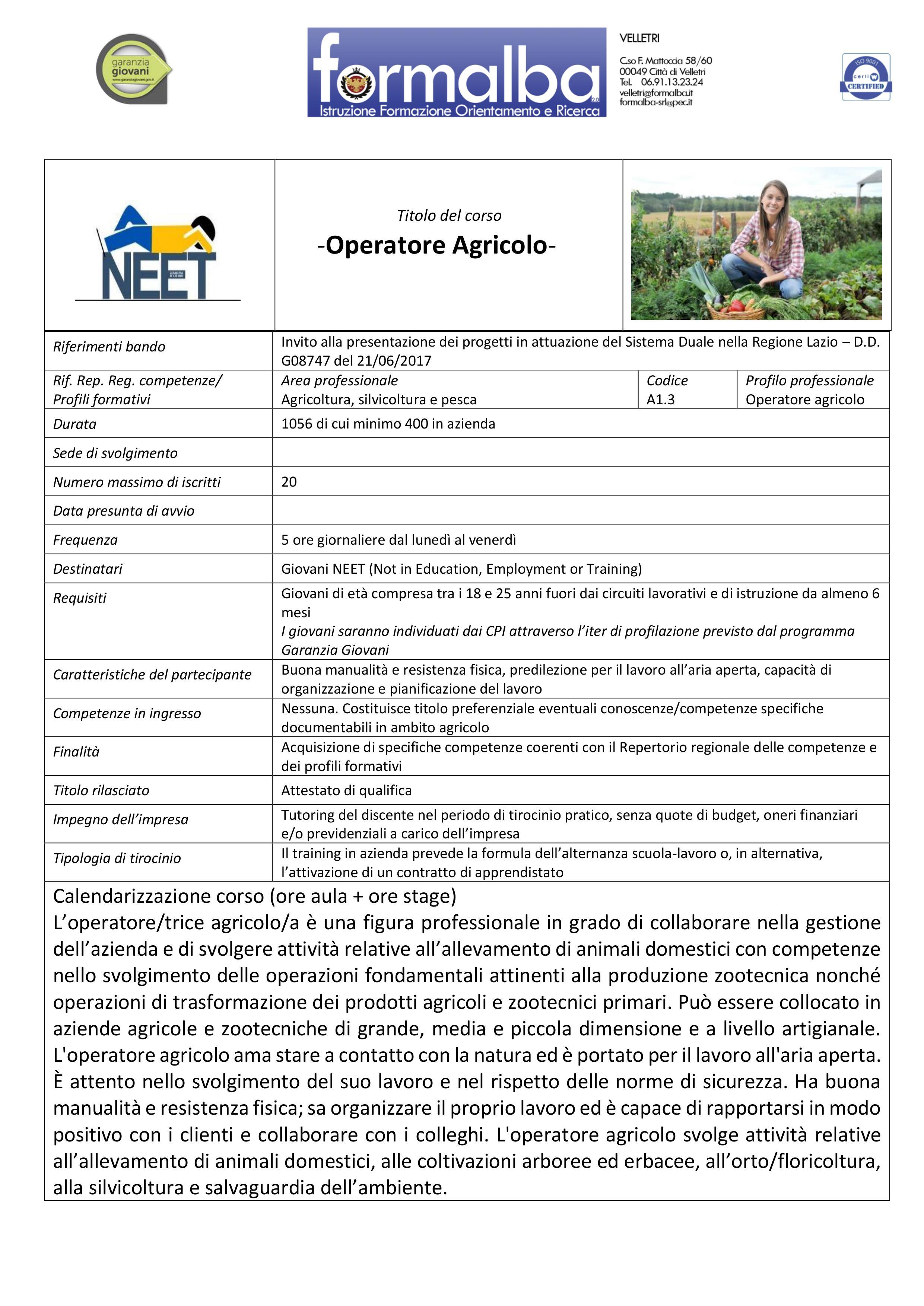 Operatore Agricolo